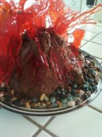 Volcano Cake by Band-Geek24