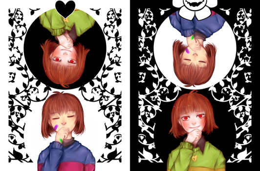 [Undertale] The other way around by XxkaibutsukoxX