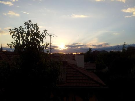 Sunset view from my house by pakom15w