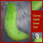 Curvy Solid Lime Tail by Lascivus-Lutra