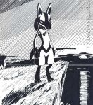 Lucario and a Sea Cliff by tydrian