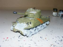 Sherman Tank - WiP by Were-Owl
