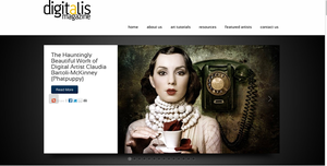 Feature in Digitalis Magazine by Phatpuppyart-Studios