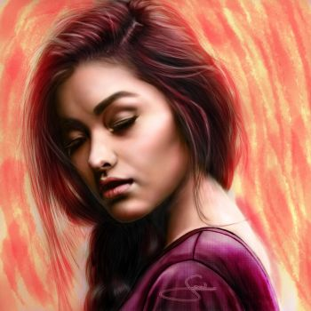 liza Soberano digital drawing by ronelibasco