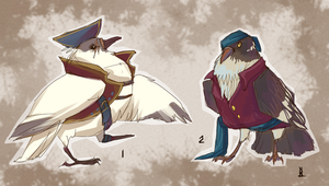 Pirate-Pigeons adoptables (CLOSED) by RiverCatRa