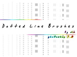 Dotted Line brushes by xCJx