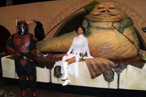 Princess Leia and Jabba the Hutt by Ivy95