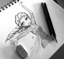 Elsa the Snow Queen :SKETCH: by Spencer-Bowen