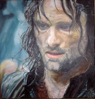 Oilpainting of Aragorn by Valyanna8361