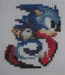 Cross Stitch Sonic the Hedgehog by Quina-chan