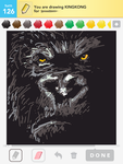 Draw Something: King Kong by shyfaerie