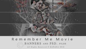 Remember Me - BANNERS + PSD - by ll-BANANA-ll