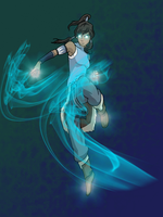 Glowing Korra by LivingAliveCreator