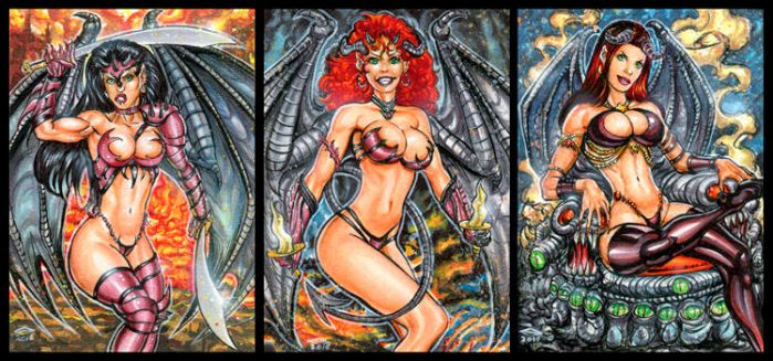 ALIGNMENT SKETCH CARD COMMISSION - EVIL by AHochrein2010