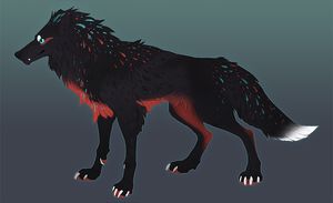 Wolf Adoptable 6 Auction Over by Sheylu