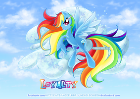Equestria Elements serie - Rainbow Dash - Loyalty by Nekoi-Echizen