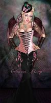 Sexy Goth in baby pink by celinart-pinup