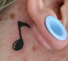 music note tattoo by sellavision