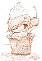 chibi in pudding cup by kireji00