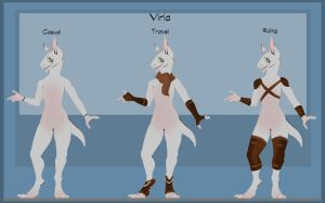Reference Sheet: Viria by Austeeny