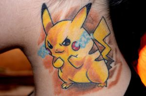 My Pikachu Tattoo by Taji-Chan