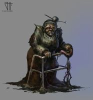 Concept zombie grandmother by juannahuel