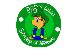 Baby Luigi Stamp Of Approval by dribbleondo