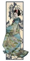 Geisha bookmark by uguisu