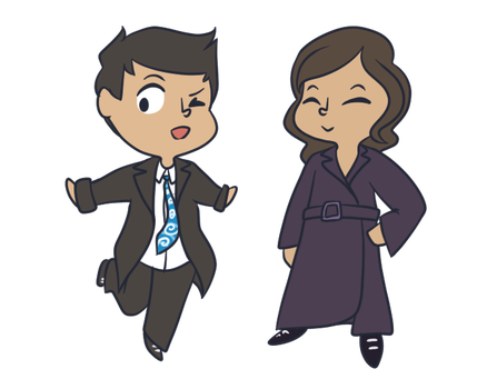 smol Brennan/Booth by Demontheses