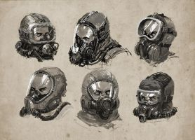 Breathing mask studies by alex-ichim
