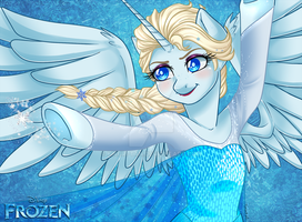 .My Frozen Pony: Elsa. by Kikuri-Tan