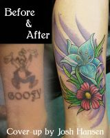 Cover-up Goofy to Flowers by joshing88