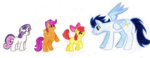 Wonderbolt, meet Cutie Mark Crusaders by CrownePrince