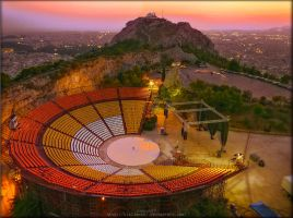 lycabettus theatre by Kirlian667