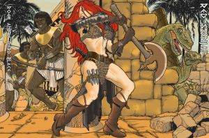Red Sonja: Rock and a Hard Place! by Trevor-Nielson