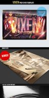 Vixen Birthday Party PSD Flyer Template by ImperialFlyers