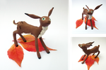 Fawn on leaves - Unique by Aberhavre