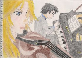 Kaori and Kousei by D7Andres