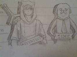 finn and jake got arrested :P by ThatGuyWhoDoeStuff