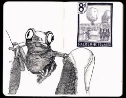 Sketchbook: Frog Stamp by JackRaz