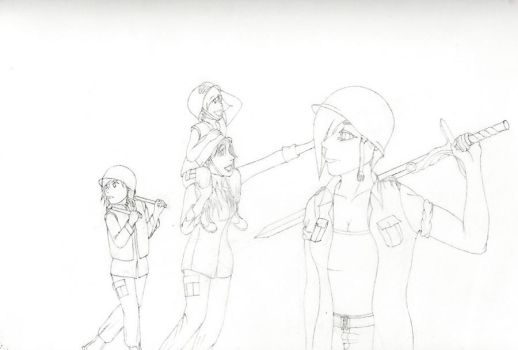 W.I.P. Four Horsewomen of the Apocalypse by ArtemisSphere