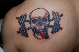 skull and cross weights by HotWheeler