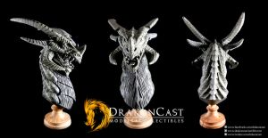 Terror Dragon Bust final sculpt by drakoncast