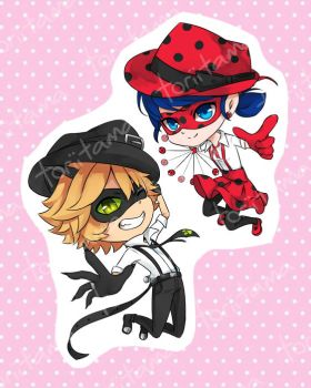 Ladynoir Stickers by toritama