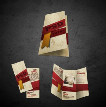 Free Brochure Templates .psd files front and back by maysunny