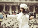 Snowflake and 7+ pigeons by AushrineMarija