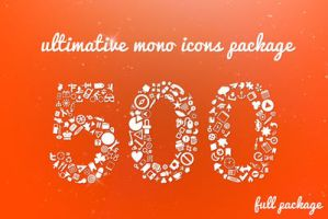 500 Ultimative Mono Icons Package by KL-Webmedia
