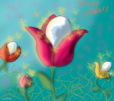 4 Tulip Flowers by HezuNeutral