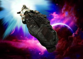 Stargate Atlantis Aurora Class Battleship by Swiftyshadows182