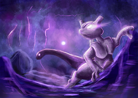 Mewtwo by Deruuyo
